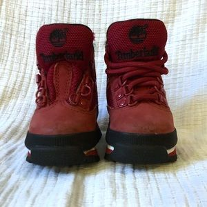 Baby Red Timberland Boots